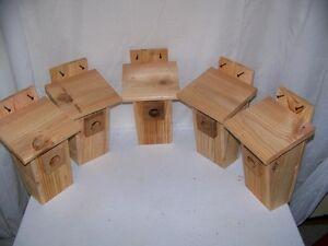 BLUEBIRD HOUSE( 5 houses) round hole peterson style handmade by CEDARNEST
