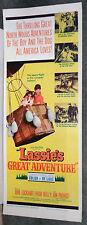 Lassie'S Great Adventure 14x36 Jon Provost original 1963 insert movie poster