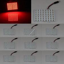 10X Red Car 48 SMD 5630 LED panel Light Dome Bulb T10 Festoon Spring 12V