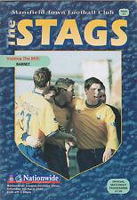 Football Programme>MANSFIELD TOWN v BARNET Apr 2000
