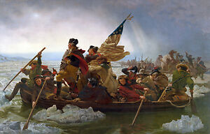 """Oil painting George Washington Crossing the Delaware by Emanuel Leutze 36""""x48"""""""