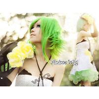 Anime Hot Cosplay Vocaloid Gumi Megpoid Green Medium Layered  Hair Wig