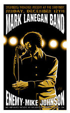 Justin Hampton  Mark Lanegan  Screaming Trees  Mondo  Metallic Ink Screen Print