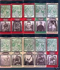 1936 Diamond Football Matchcovers Philadelphia Eagles-Complete Set 18