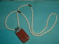 ROSS SIMONS CHERRY QUARTZ WHITE HOWLITE GEMSTONE 30 INCH NECKLACE!! MARKED DOWN!