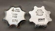 """4oz Hand Poured 999 Silver Bullion Bar """"Silver Slacker 2017"""" Gear by YPS"""