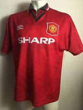 MANCHESTER UNITED 1994/1995 HOME FOOTBALL JERSEY SHIRT VINTAGE UMBRO SIZE L