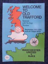 1978 Special UEFA Cup Review- MANCHESTER UNITED v AJAX, 29 Sept