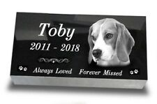 "Large Pet Headstone  Laser Engraved on the Grave Marker Granite 16""х8""х3"" inch"