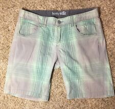 Horny Toad Women's Birdwalk Shorts Griffin Green Organic Cotton Size 8