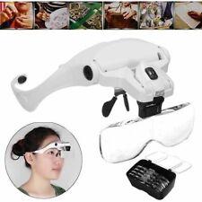 Dental Magnifier Glass 5 Lens Dentist Loupes Reading Surgical Head Led Medical