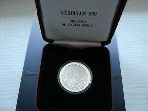 "Latvia Lettland 5 euro 2015 silver coin ""500 years of Livonian Ferding"""