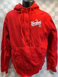 St Louis CARDINALS World Series 2011 Zip Front Jacket Size M