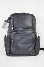 $555 NEW Tumi Men's 963162 Black Leather Compact Laptop Backpack Rucksack Bag