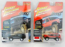 Johnny Lightning *BLACK & RED* JEEP CHEROKEE SET 4x4 *2018 mc2-toys EXCLUSIVE*