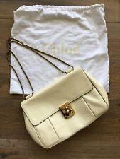 Chloé Elsie Medium Shoulder Bag Ivory Grain Nappa