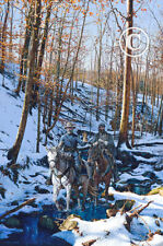 "John Paul Strain's ""WINTER SHADOWS OF 1862"" S/N Studio Canvas Giclee 24 1/3 x 16"