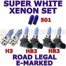 ALFA ROMEO GTV /SPIDER 1995 -2005 SET H3 HB3 HB3 501 HALOGEN LIGHT BULBS