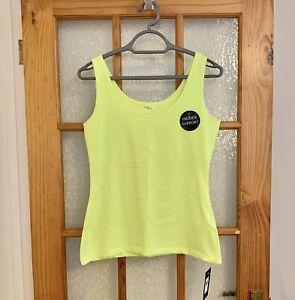 NEW!!! Ladies Size 12 Peacocks Envy Top Hidden Support Vest Tank Lemon / Lime