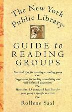 The New York Public Library Guide to Reading Groups by Rollene Saal (1995,...
