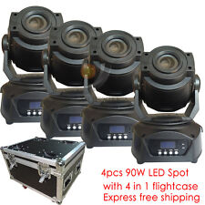 4pcs/ lot 90W LED Spot Moving Head light DMX DJ Club Stage Lighting for Party