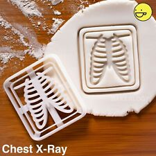 Chest X-Ray cookie cutter |Rib Cage radiologists bones halloween biscuit anatomy