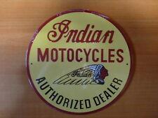 PLAQUES PUBLICITAIRE tolée age d'or de l'Automobile n°69 21cm ronde INDIAN moto