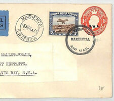 BL97 1931 South West Africa *SWA* Stationery *LUGPOST MARIENTAL* Airmail Cover
