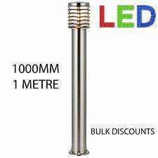 GARDEN POST BOLLARD LIGHT LED 12  WATT Modern Stainless Steel 100cm IP44 Outdoor