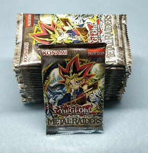 English Yugioh Metal Raiders 24 Booster Packs = Box Quantity Unsearched
