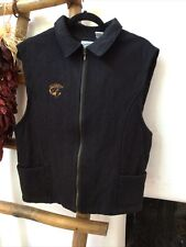 Equestrian Riding Vest On Course Black XL Womens Western Riding Cowgirl Vintage