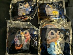 (4)2021 McDONALD'S DISNEY 50th ANNIV. HAPPY MEAL TOYS #1,2,3,5 Mickey Mouse