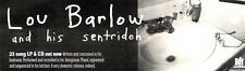 "NEWSPAPER CLIPPING/ADVERT 11/6/94PGN59 3X11"" LOU BARLOW & HIS SENTRIDOH"