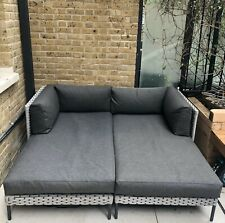 More details for rossiter grey outdoor garden chaise/sofa/daybed from made.com