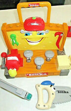 AS IS Vintage 2000 TONKA Talking Learning Sounds Tools Plastic WORKBENCH Toy