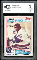 1982 Topps #434 Lawrence Taylor Card BGS BCCG 9 Near Mint+
