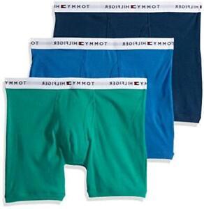 Tommy Hilfiger Mens 09TE025 Boxer Briefs, Shamrock (Multi 3 Pack), Size Medium 2