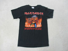 Iron Maiden Concert Shirt Adult Small Black Red Number Of The Beast Tour Mens