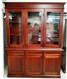 Glass Cabinet 3 Doors, Walnut CMS 156X42X205H (381)