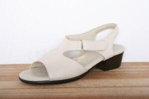 SAS 'Suntimer' Pearl Metallic Leather Slingback Comfort Sandals Sz. 9 S