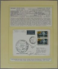 s1136) Raumfahrt Space Apollo 12 Recovery Force 24.11.69 Autograph Bean + Lousma