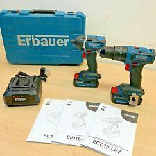 BRUSHLESS Erbauer Combi Drill ECD18-Li eri691com + Impact Driver EID18-Li *NEW*