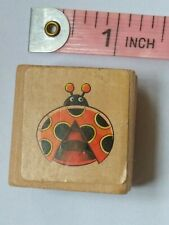 Wooden Mounted Ladybird Rubber Stamp