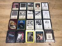 Rare 8 Track Tape Cartridge Bundle 20x Stones, Black Sabbath, Beatles, Dylan