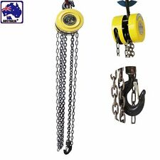 1 Ton 2.5m Lift Height&Tackle Pulley Chain Block Winch Manual Operated TEBCH2525