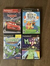 Sony PlayStation 2 PS2 Kid Game Lot/Bundle 4 Games - Cars, Mojo Frogged Winne
