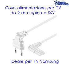 CAVO ALIMENTAZIONE PER TV SAMSUNG, BIANCO, 2 M CON SPINA A 90