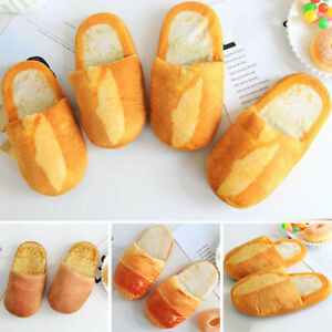 Unisex Cute Slippers Lovers Bread Korean Style Couples Shoes Kawaii Warm