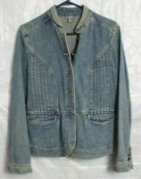 J.Jill Denim Blue Jean Jacket Womens Size S Small - Button-Up 100% Cotton Soft