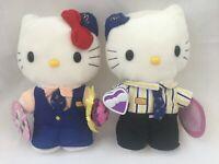 Lot of 2 Sanrio Hello Kitty Bride and Dear Daniel Groom Plush 2000 McDonalds 9in